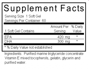 qualtiy fish oil supplement label