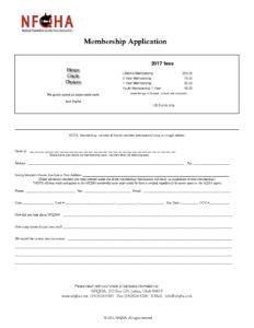 NFQHA Membership Application