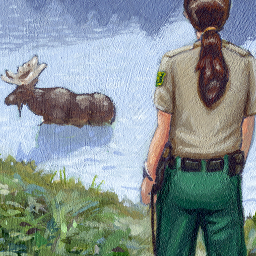 USDA Forest Service - Law Enforcement Painting - featured