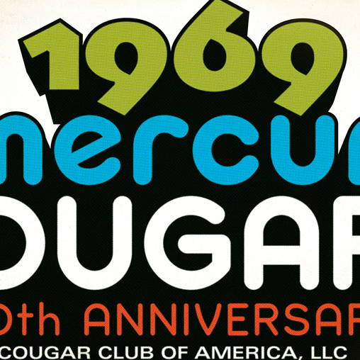 Cougar Club of America 50th Anniversary of the 1969 Mercury Cougar Logo featured