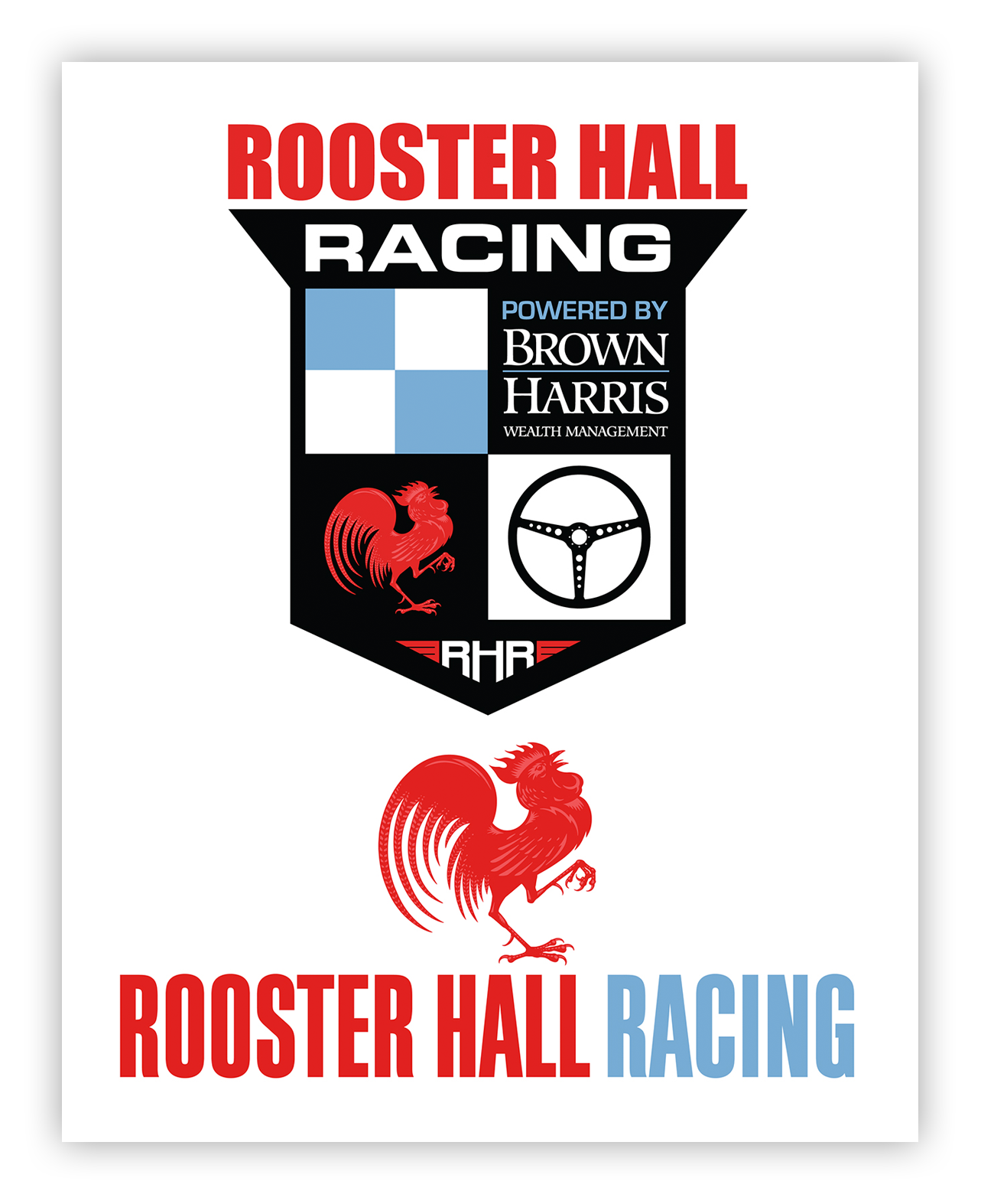 Rooster-Hall-Racing-Auto-Race-Team-Logos-portfolio