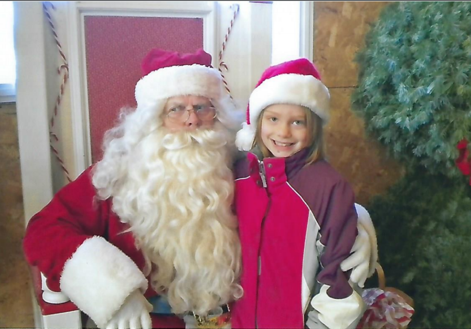 Ellie with Santa