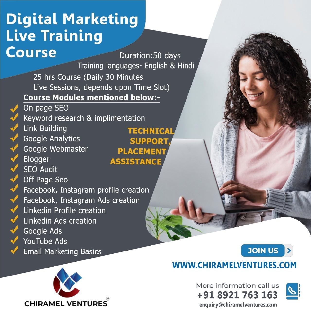 Digital Marketing Live Training - Chiramelventures