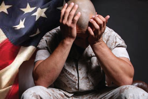 US soldier with traumatic brain injury