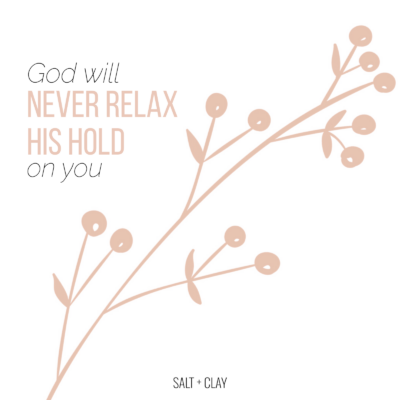 Never Relax His Hold