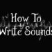 How to write sounds