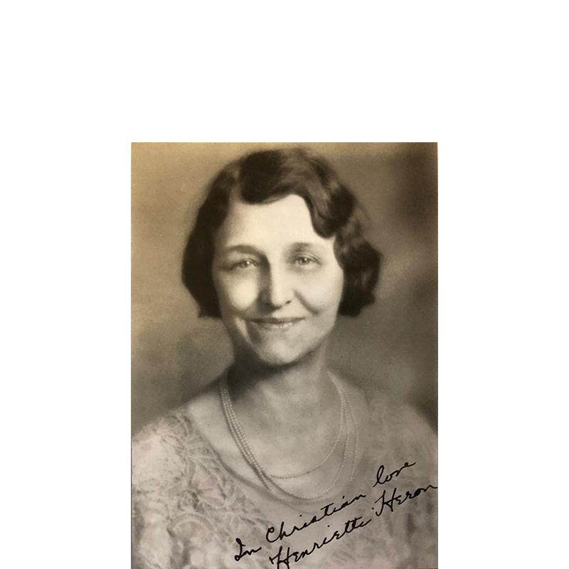 Henrietta Heron — 'The Friendly Counselor'