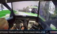 Officers use high-tech chase simulators to train