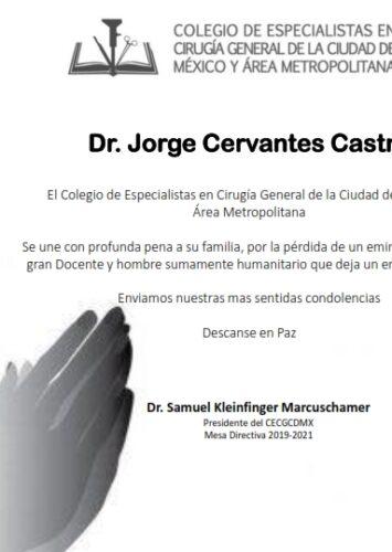 Dr. Jorge Cervantes Castro