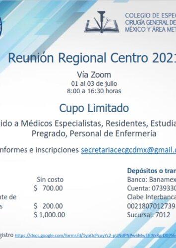 Reunión Regional Centro 2021