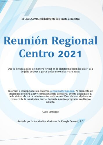 Programa   Reunión Regional Centro 2021