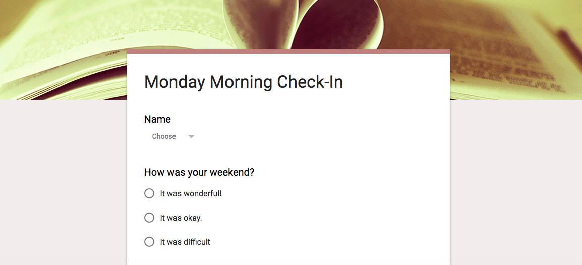 Monday Morning Check-In