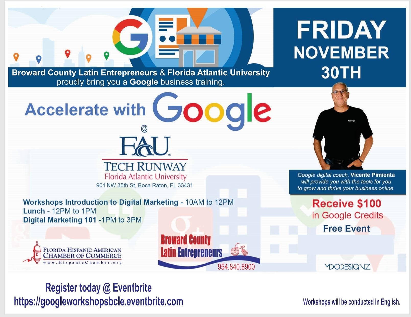 Two Google Digital Marketing workshops in one day!