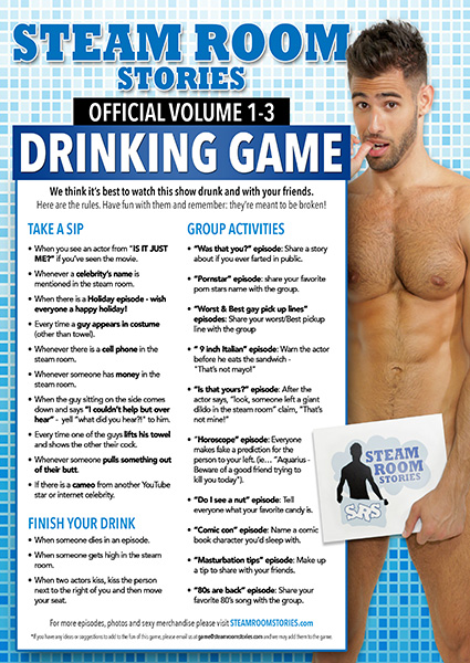 Steam Room Stories Drinking Game