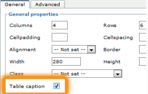 You must select the option to have table captions in order to add them.