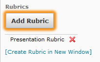 add Rubric button