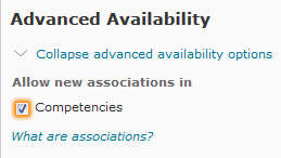 competencies selected