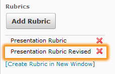newly added rubric highlighted