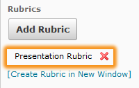 rubric added to activity