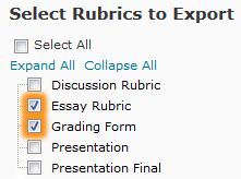 Two Rubrics Selected