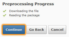 Successful Process confirmed with checkmarks.