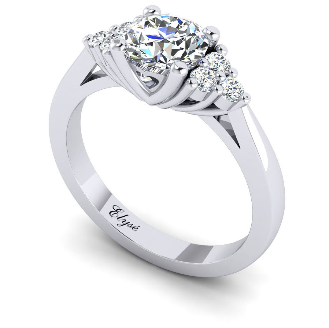The Morton Round Brilliant 7 Stone Engagement Ring Image