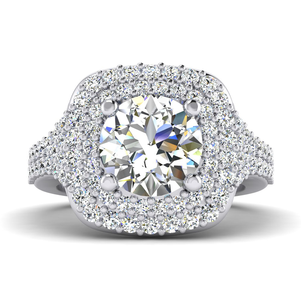 The Bowdoin Round Brilliant Halo Engagement Ring Image