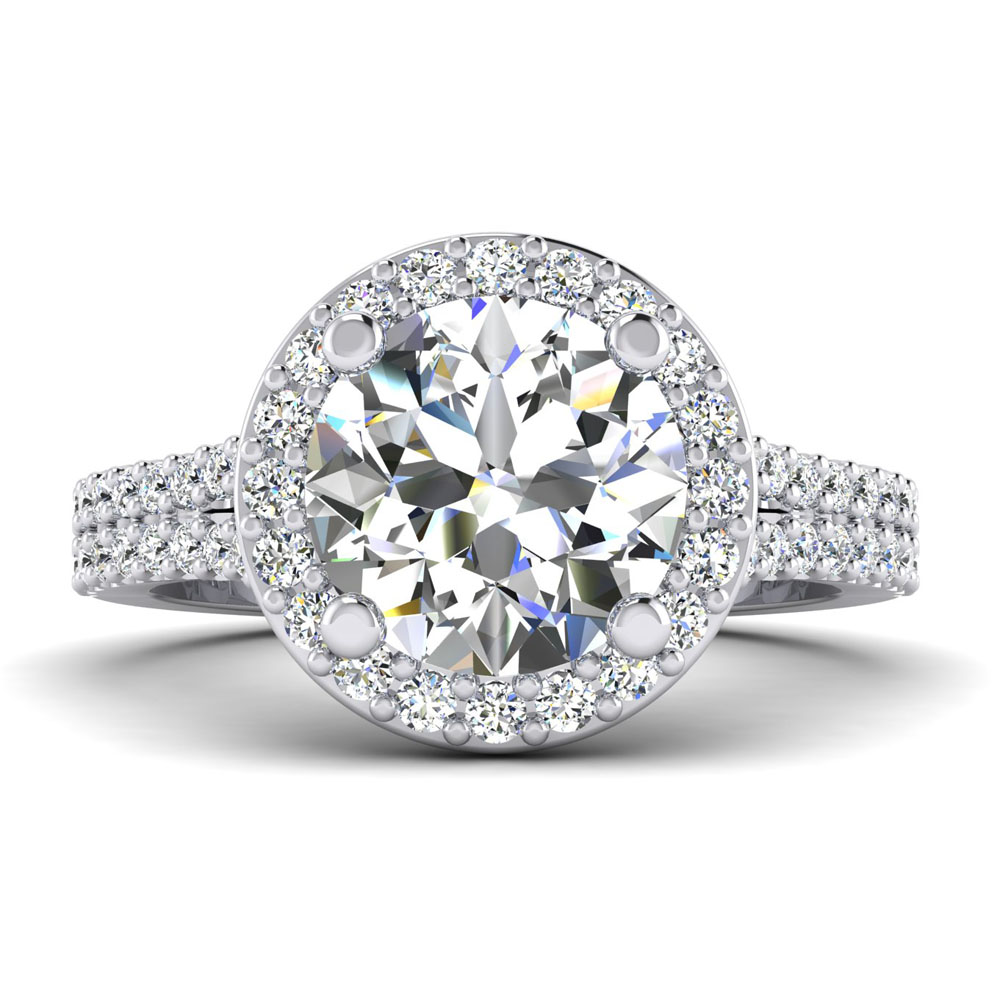 The Parker Round Brilliant Engagement Ring Image