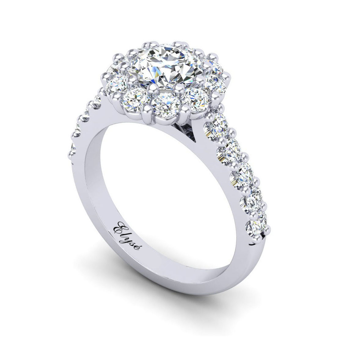 The Brattle Round Brilliant Halo Engagement Ring Image