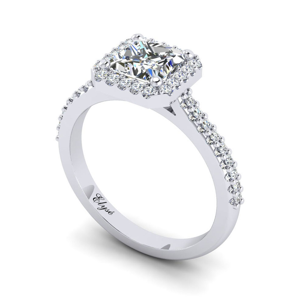 The Hanover Princess Cut Halo Engagement Ring Image