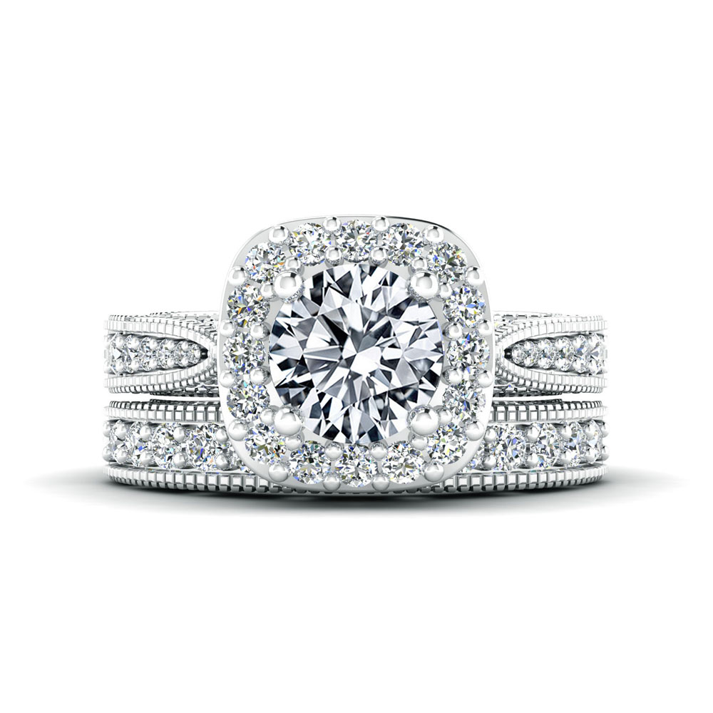 The Storrow Round Brilliant Halo Engagement Ring Image