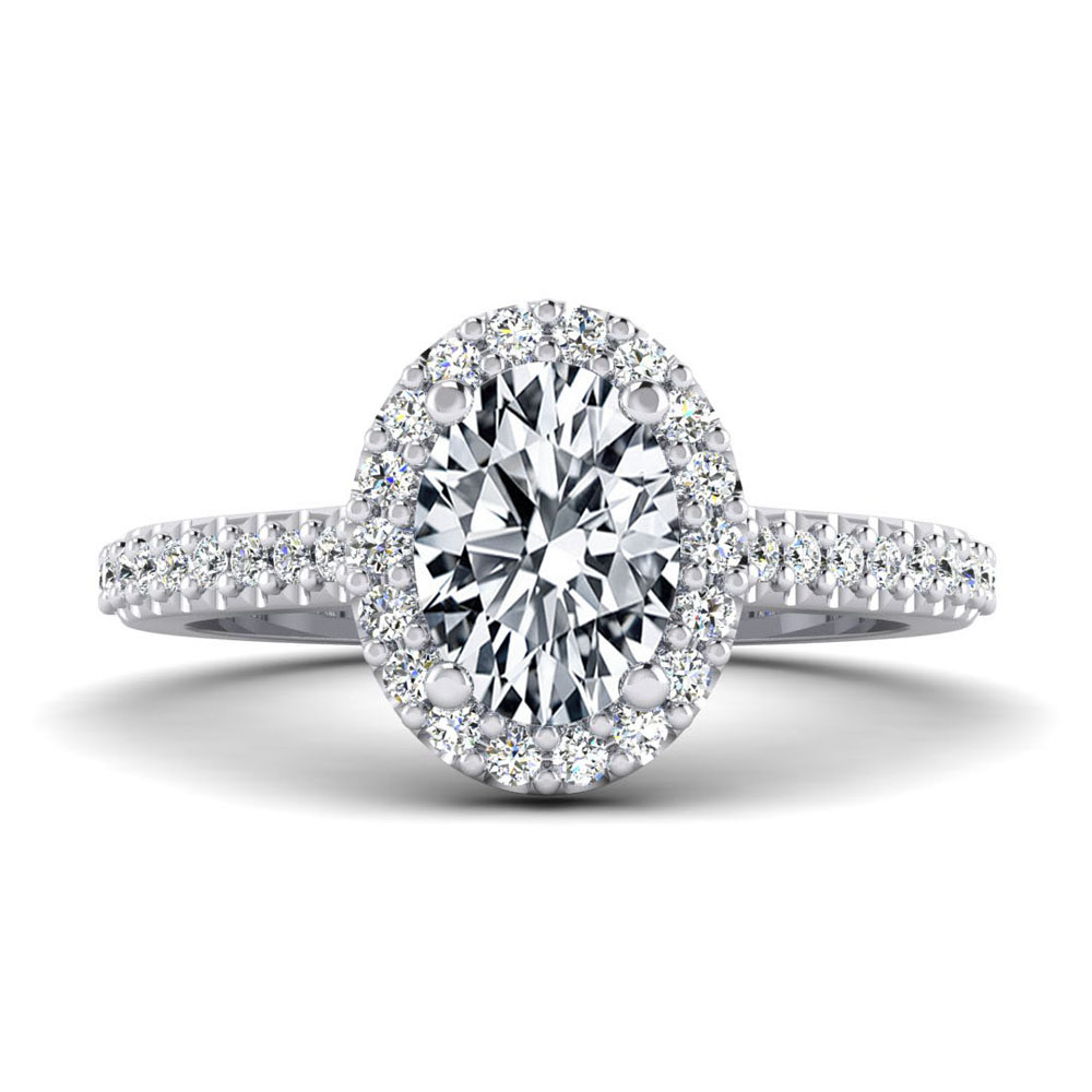 The Hanover Oval Brilliant Halo Engagement Ring Image
