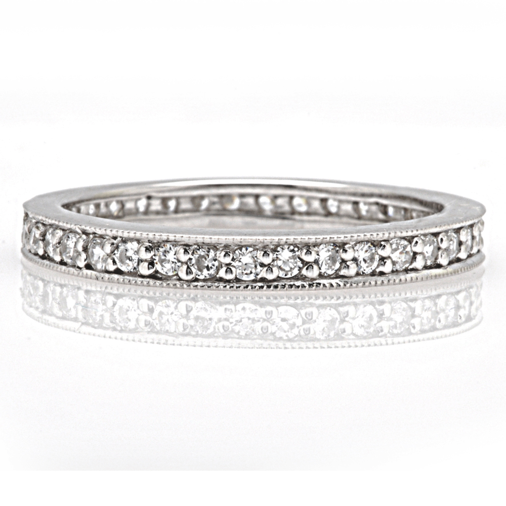 The Brookline Round Brilliant Wedding Band Image