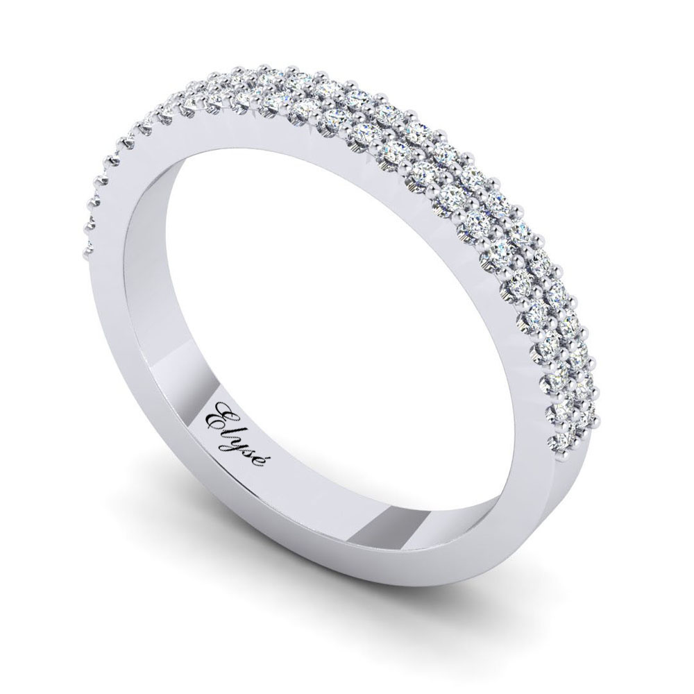 The Parker Round Brilliant Wedding Band Image