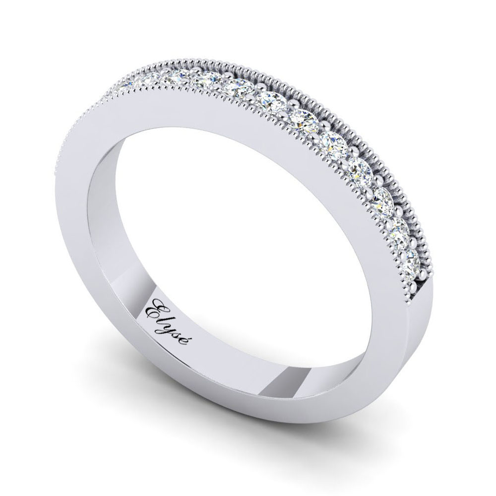 The Franklin Round Brilliant Wedding Band Image