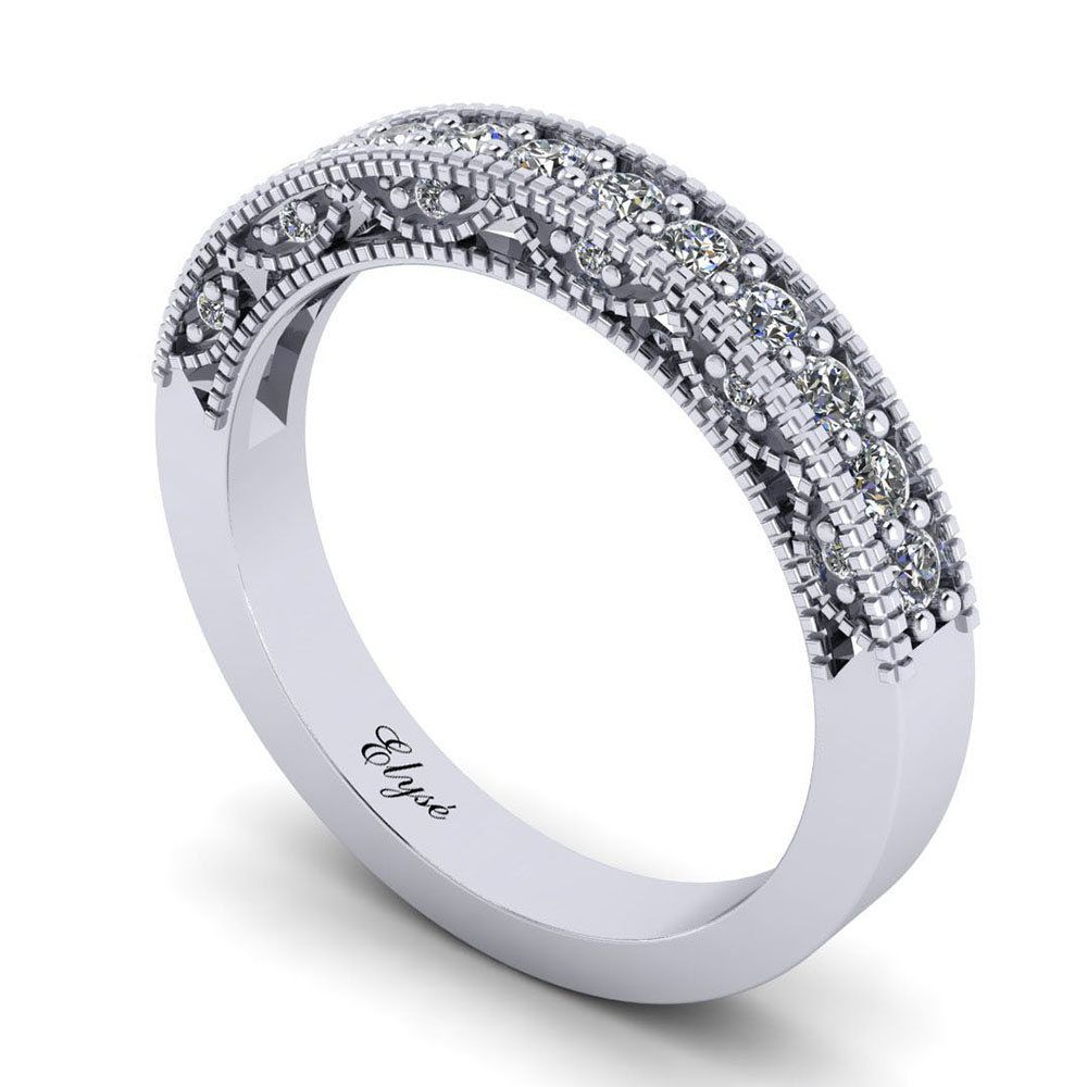 The Storrow Round Brilliant Wedding Band Image
