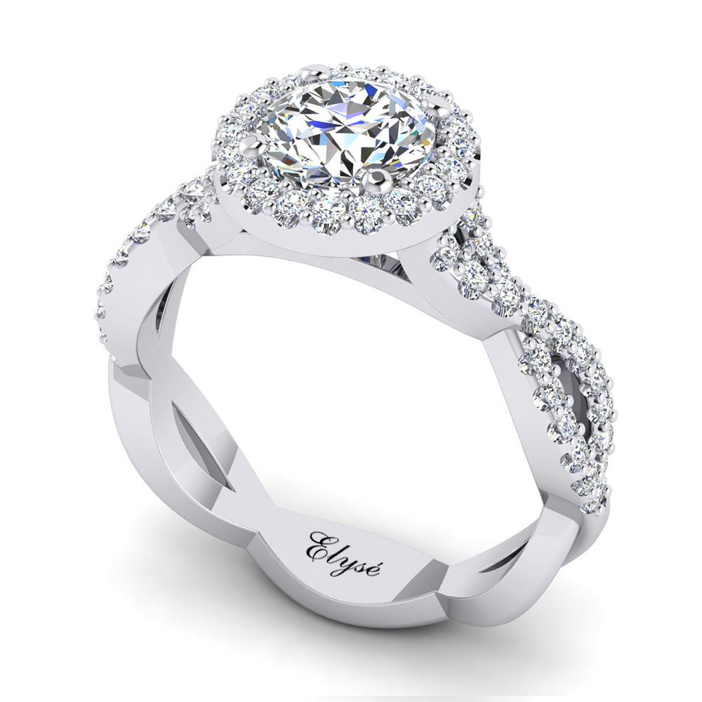 The Atlantic Round Brilliant Halo Engagement Ring Image