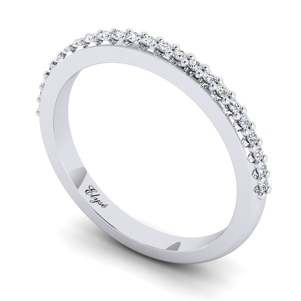 The Federal Round Brilliant Wedding Band Image