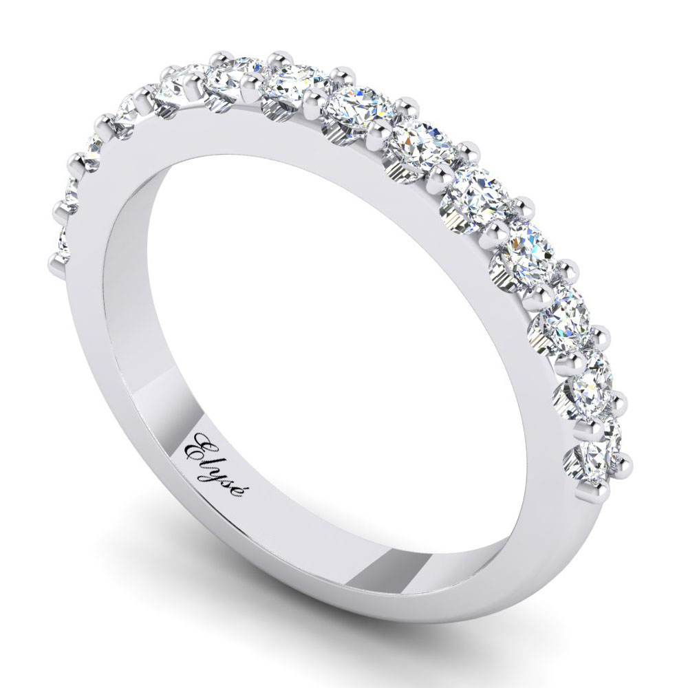 The Huntington Round Brilliant Wedding Band Image