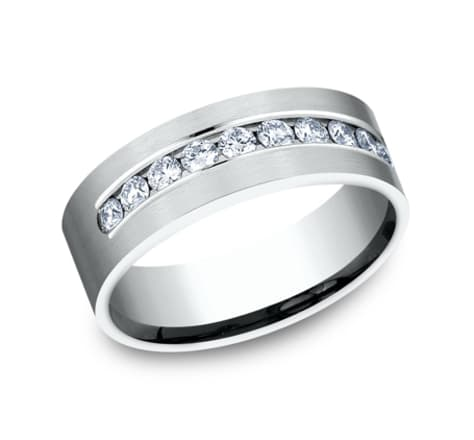 Benchmark Diamond 8.0mm Wedding Band Image