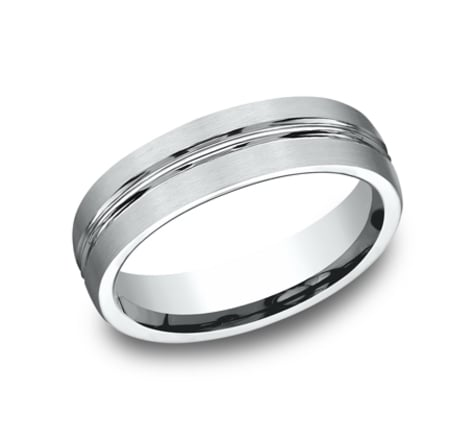Benchmark Sculpted 6.0mm Wedding Band Image