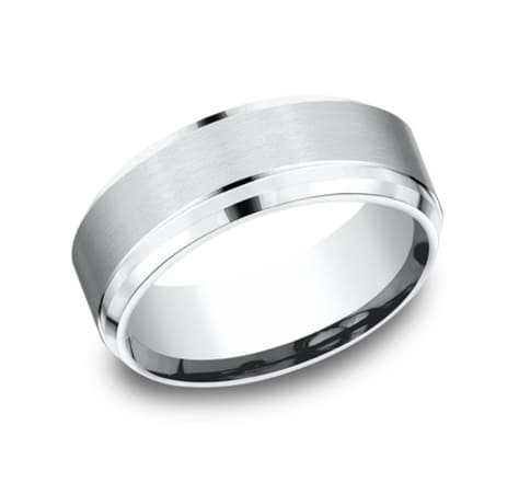 Benchmark Sculpted 8.0mm Wedding Band Image