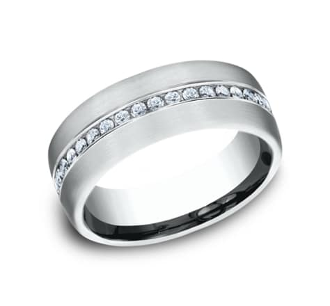 Benchmark Diamond 7.5mm Wedding Band Image