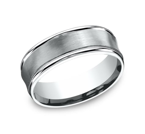 Benchmark Sculpted 7.5mm Wedding Band Image