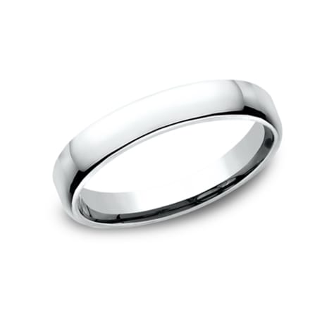 Benchmark Euro Dome 3.5mm Wedding Band Image