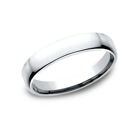 Benchmark Euro Dome 4.5mm Wedding Band Image