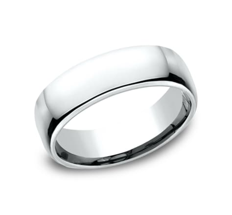 Benchmark Euro Dome 6.5mm Wedding Band Image