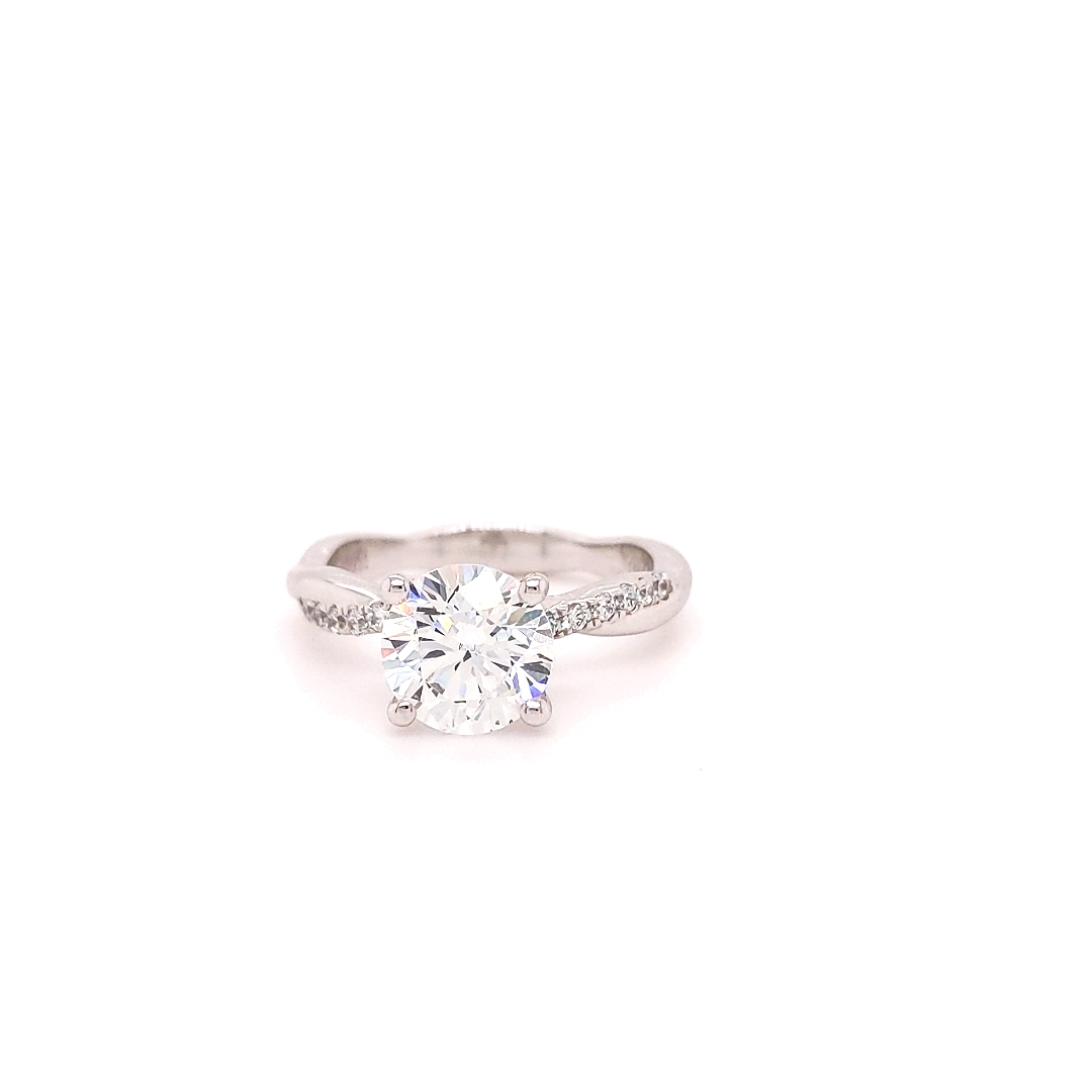 The Columbus Round Brilliant Engagement Ring Image