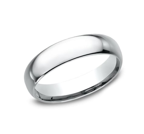Benchmark Basic Dome 5.0mm Wedding Band Image