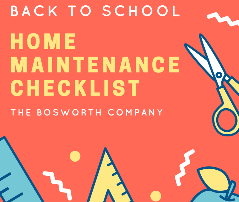 Back To School Home Maintenance Checklist